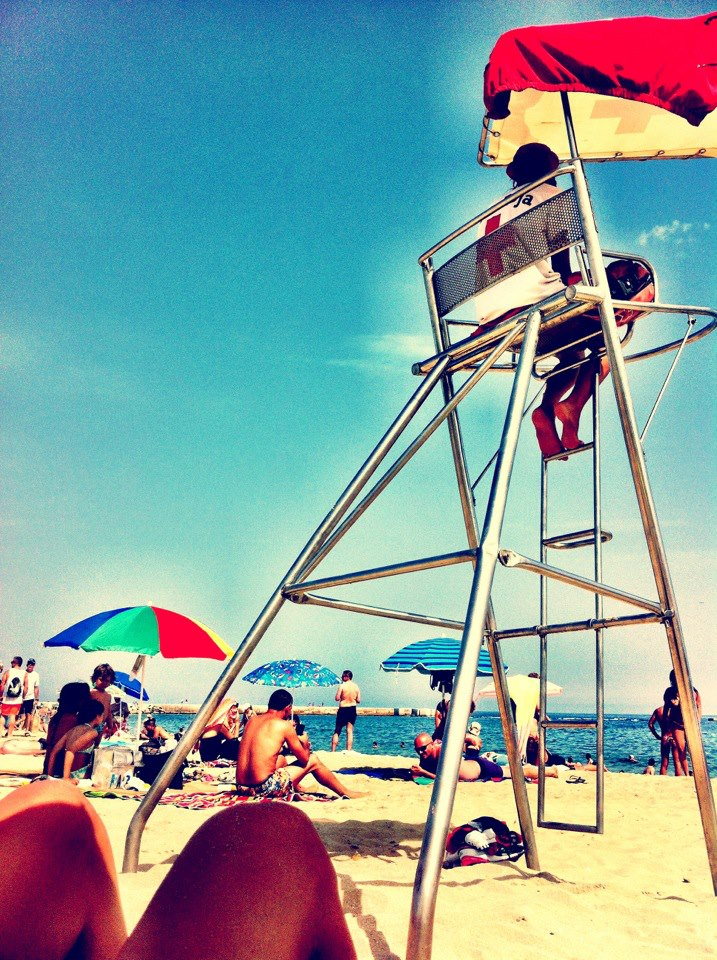 Barceloneta Beach lifeguard in the Summer