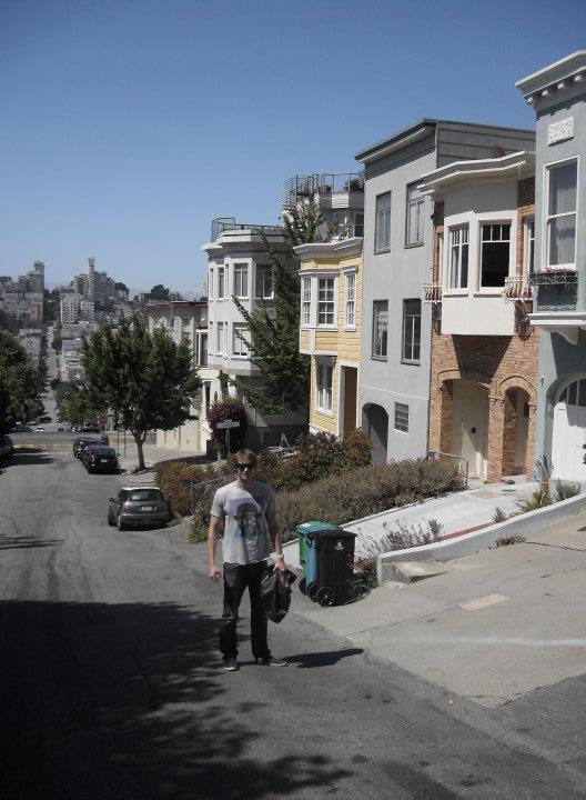 Exploring the windy and very very steep streets of San Francisco