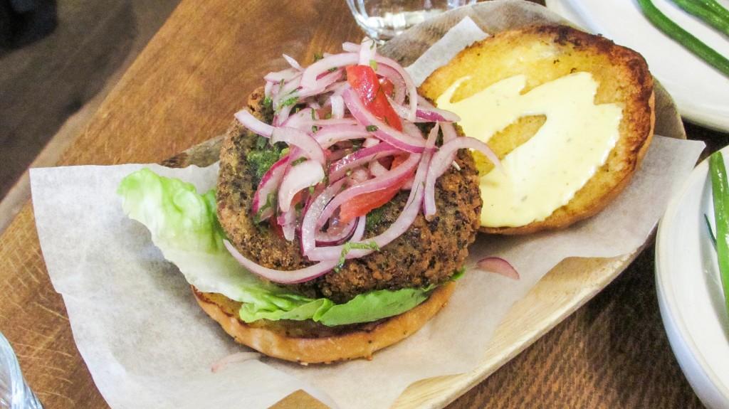andina quinoa burger Shoreditch London