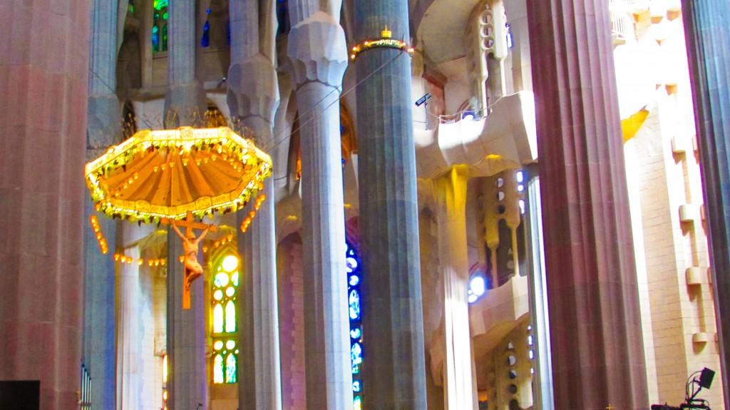 The hanging Jesus in Sagrada Familia, Barcelona