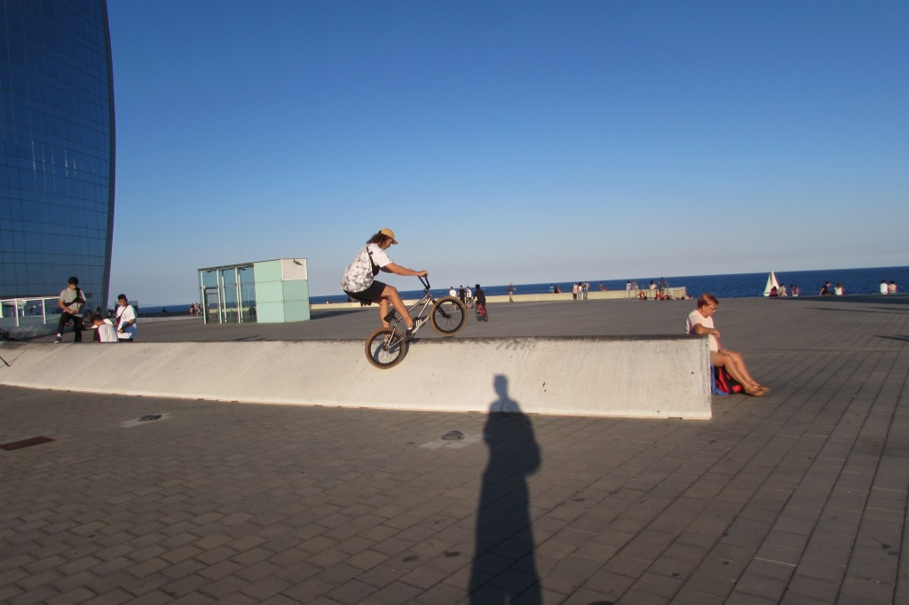 BMX rider at W Hotel Barcelona