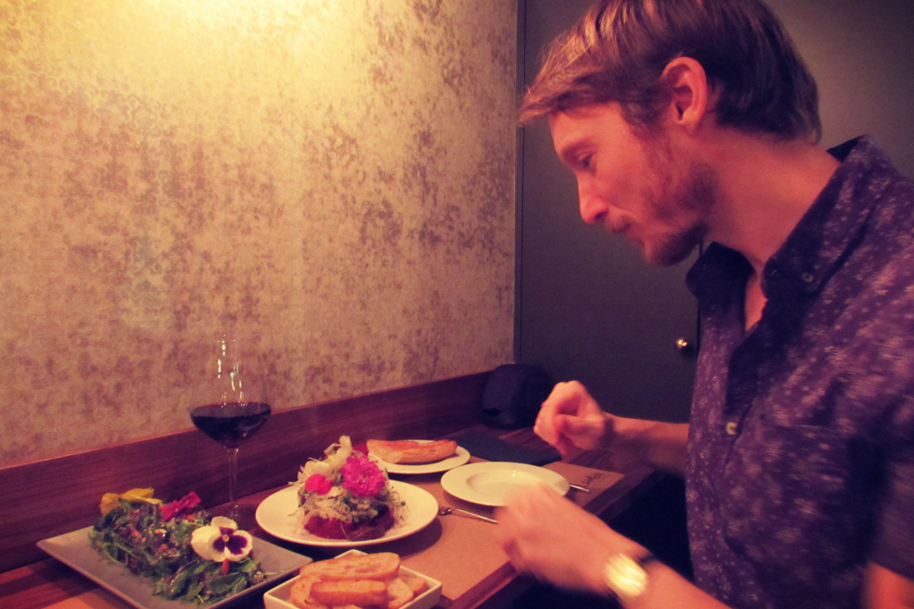 Ben Holbrook Travel and Food Writer/Blogger Barcelona at Malamen on Carrer Blai Poble Sec
