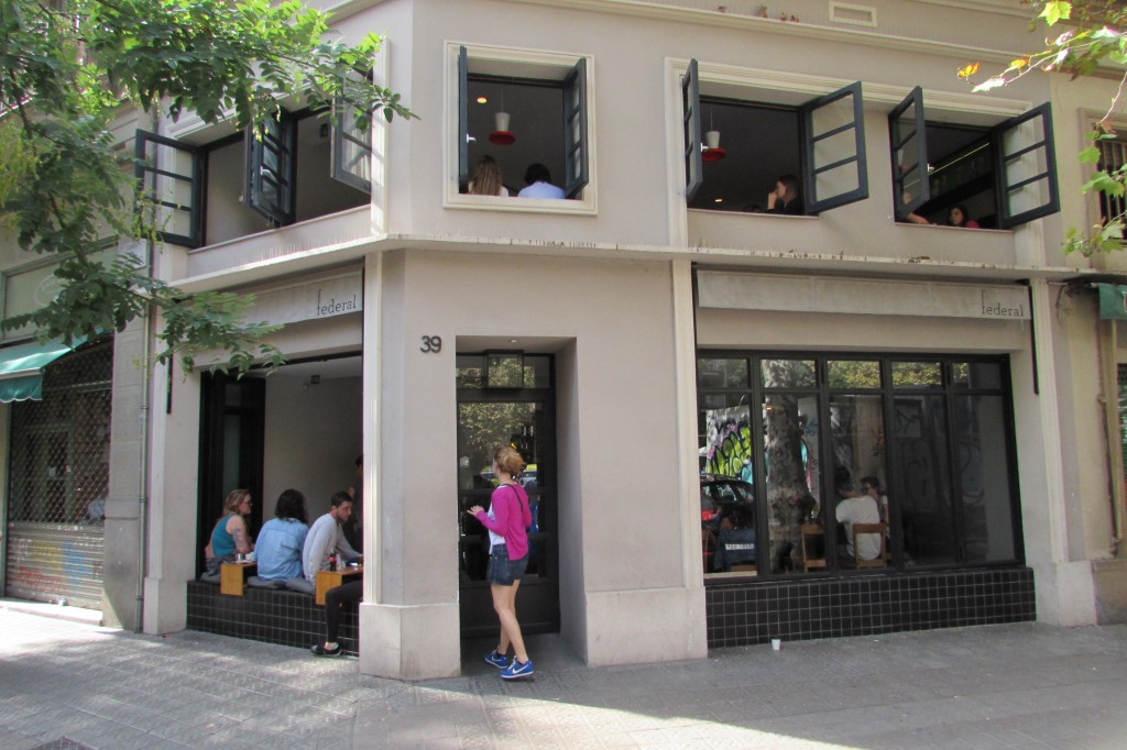 Federal Cafe Parlament Street Sant Antoni Barcelona