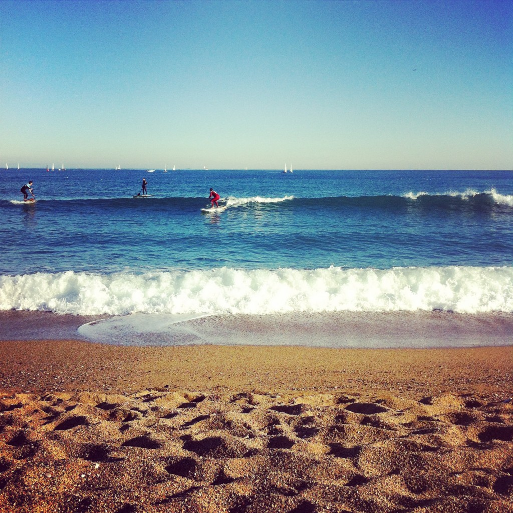 Head to the beaches farthest away from Barceloneta for the cleanest swimming