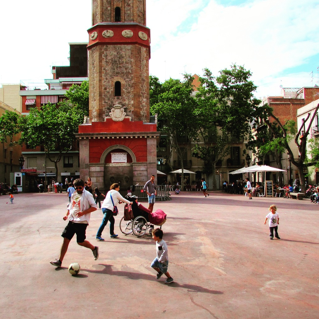 Village vibes in Gracia's lively Plaça de la Vila de Gracia