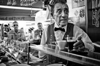 Juanito Bayen Owner of Pinotxo Bar in Barcelona La Boqueria Market on Las Ramblas - photo by Keith Davies