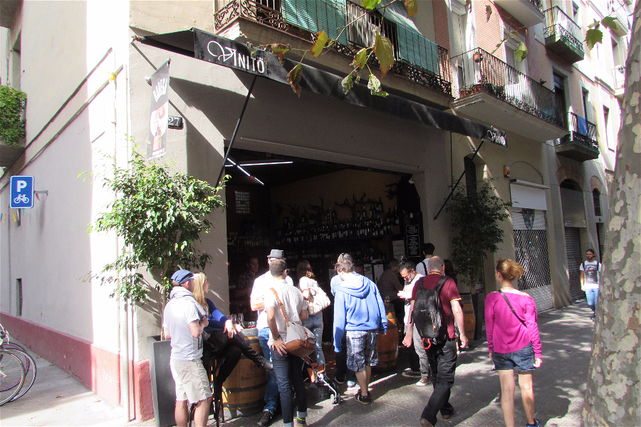Catalan wine by the barrel at the always bustling Bodega Vinito on Carrer Parlament in Sant Antoni