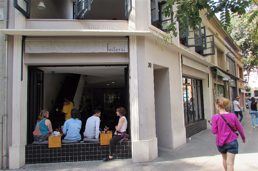 Federal Cafe famous brunch spot on the trendy Carrer Parlament in Sant Antoni