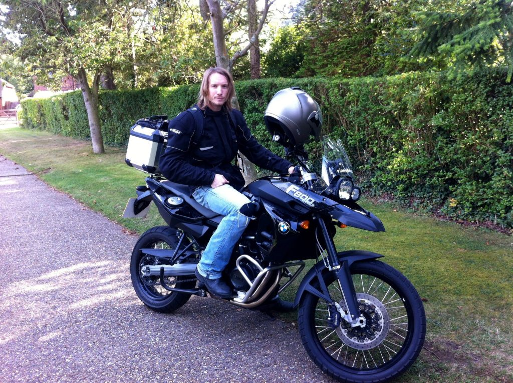 Me circa 2010 when all I could think about was getting on my motorbike and getting the hell out of London.