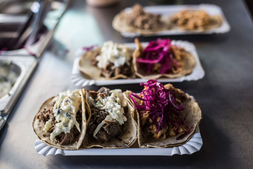 Gourmet tacos at the Eat Street Food Market Barcelona