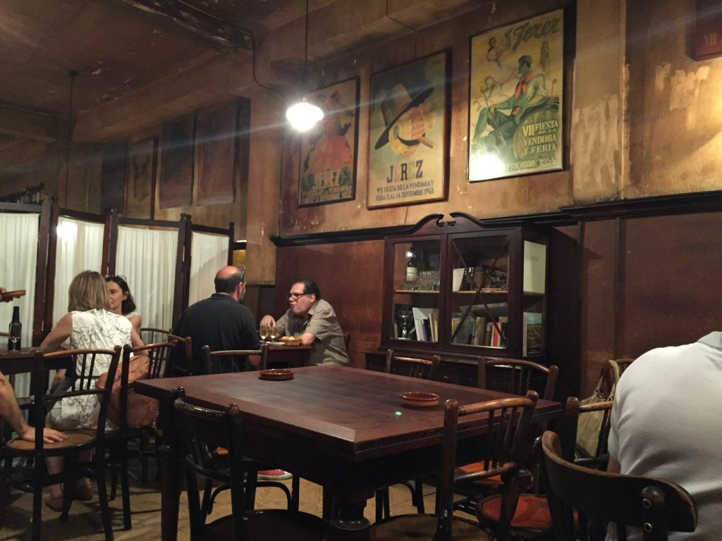 La Venencia Wine Bar in Madrid where Ernest Hemmingway drank