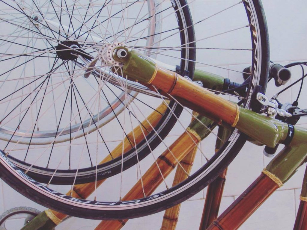 Bamboo bikes. Strong, natural, exotic.