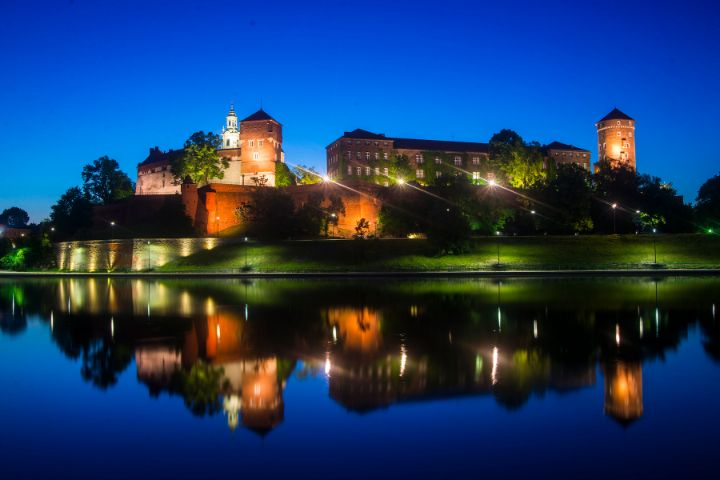 Wawel Castle at Night, Krakow