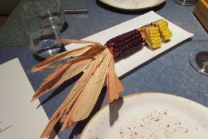 Foie gras sweet corn at Disfrutar in Barcelona