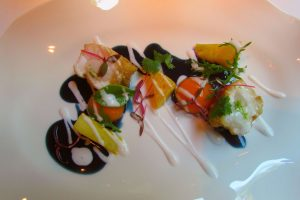 Bangkok monkfish with coconut and Thai sauce at Moments Restaurant