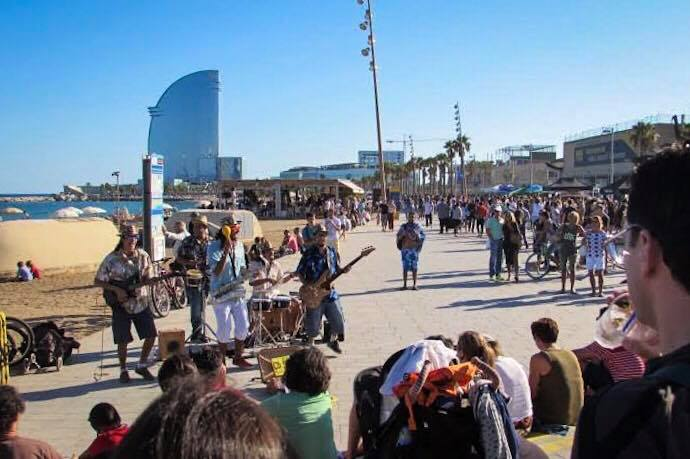 Barceloneta Beach Live Music