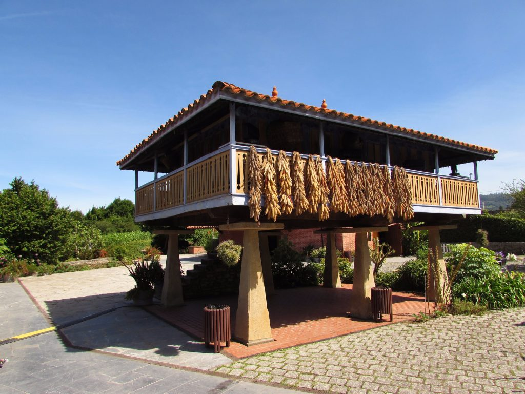 Horreos granary/storehouses in Asturias - the funny wooden houses on stones stilts