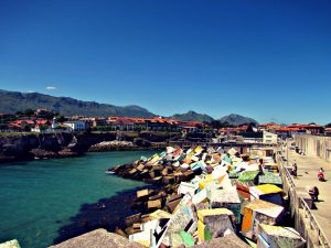 Llanes, where the Spanish go for their summer holidays.