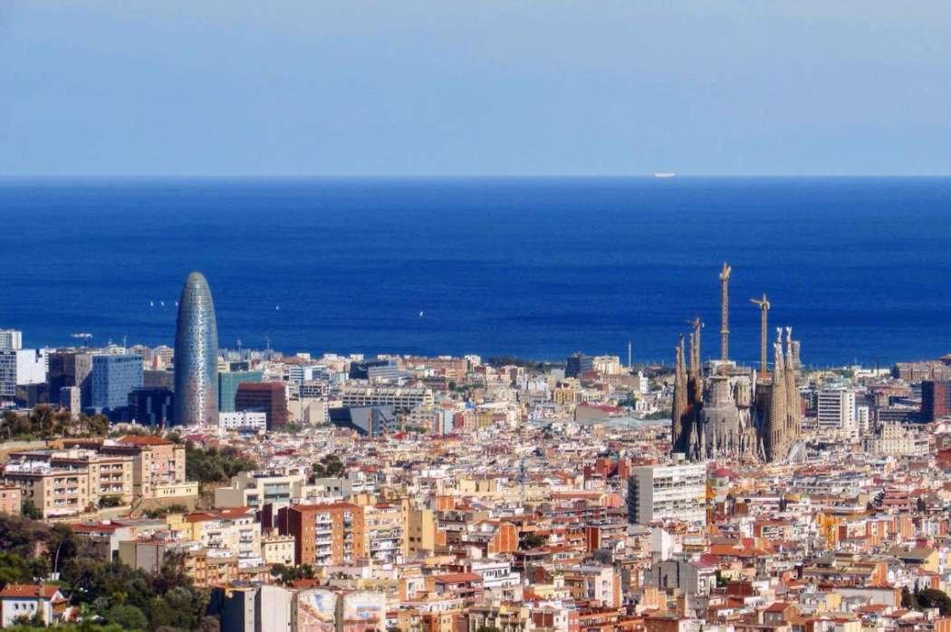 Barcelona city skyline - from above