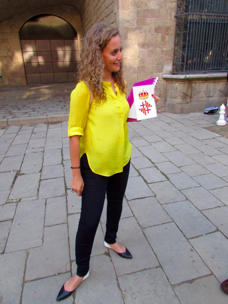Learning about the Catalan culture in Barcelona on the Wanderbeak walking food tour