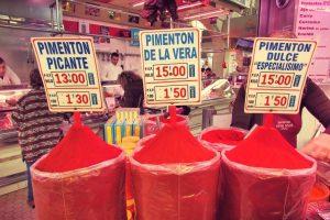 Pimenton at Valencia's food market