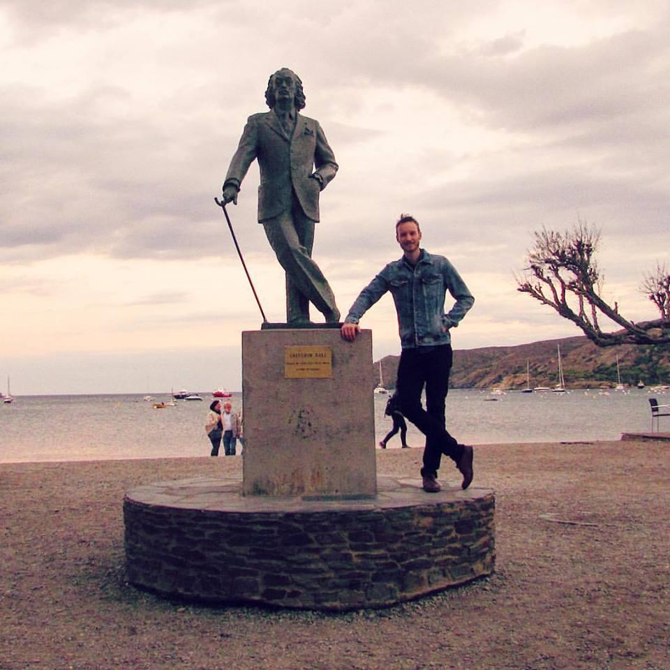 Salvador Dali Statue on the Beach in Cadaques