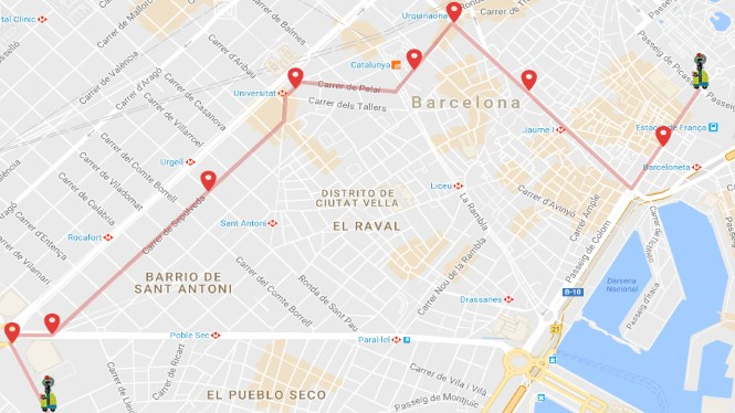 Three Kings Parade Route in Barcelona