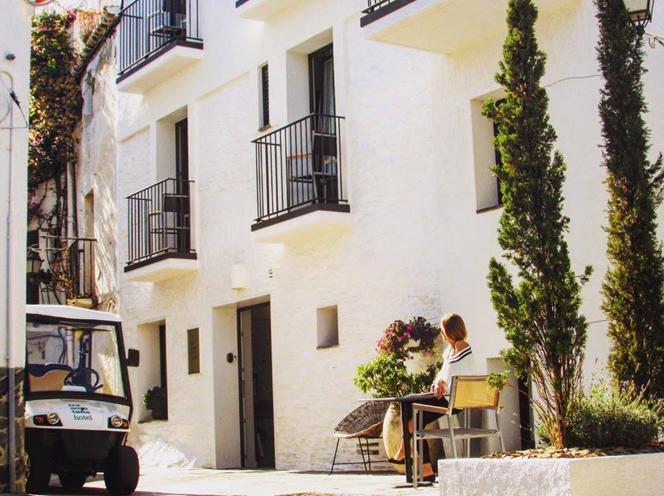 Tramuntana Hotel Facade, Cadaques, Costa Brava