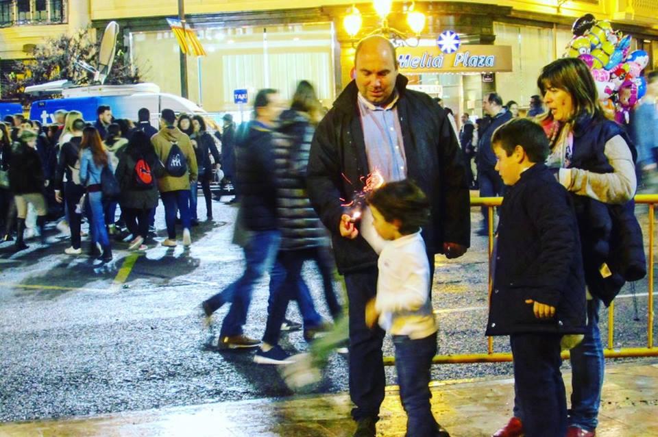 Family fun at Valencia's Las Fallas festival