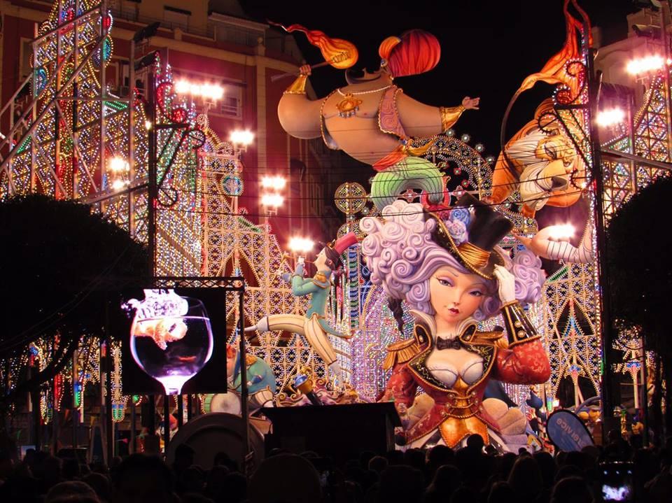 ILluminated Ninots at Valencia's Las Fallas festival