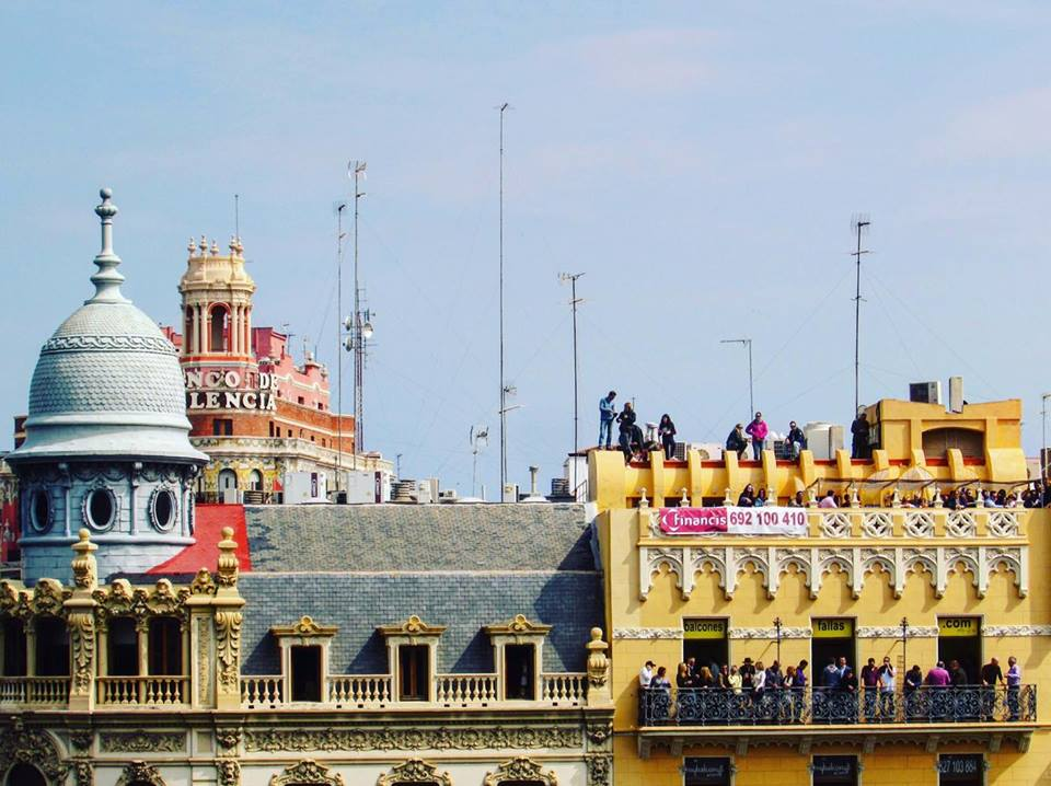 Rooftop rentals at Valencia's Las Fallas festival
