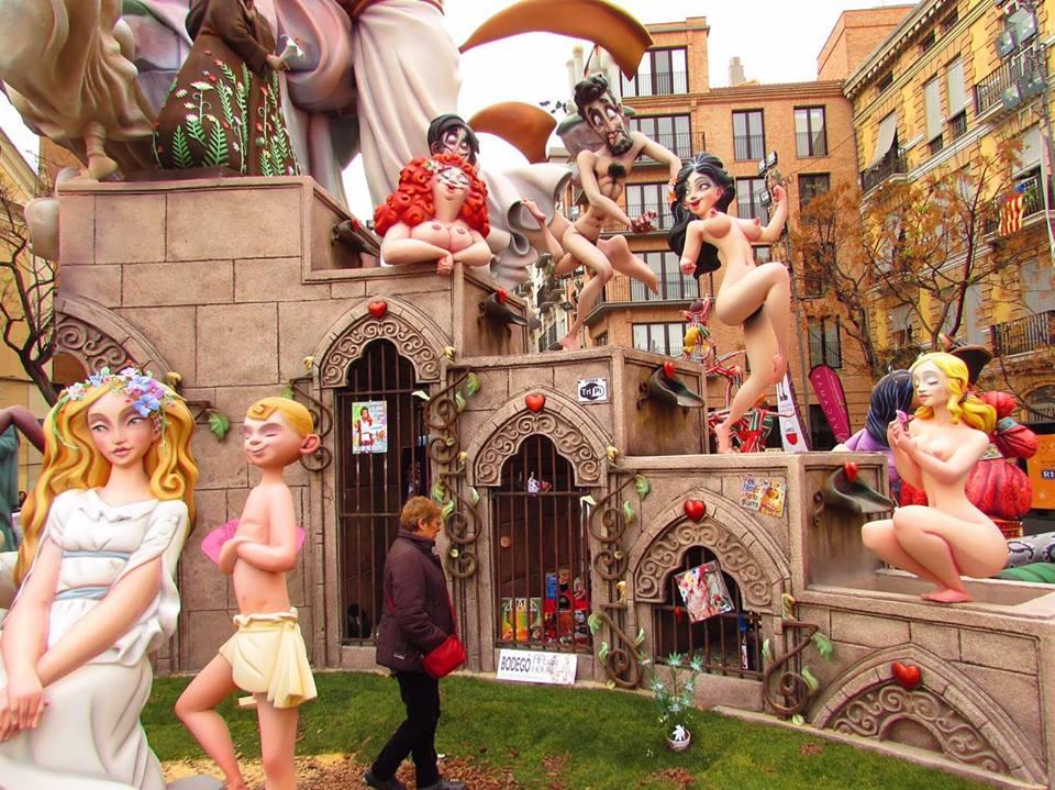 Sexy Ninots at Valencia's Las Fallas festival