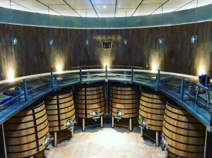 Torres wine casks in Penedes outside of Barcelona