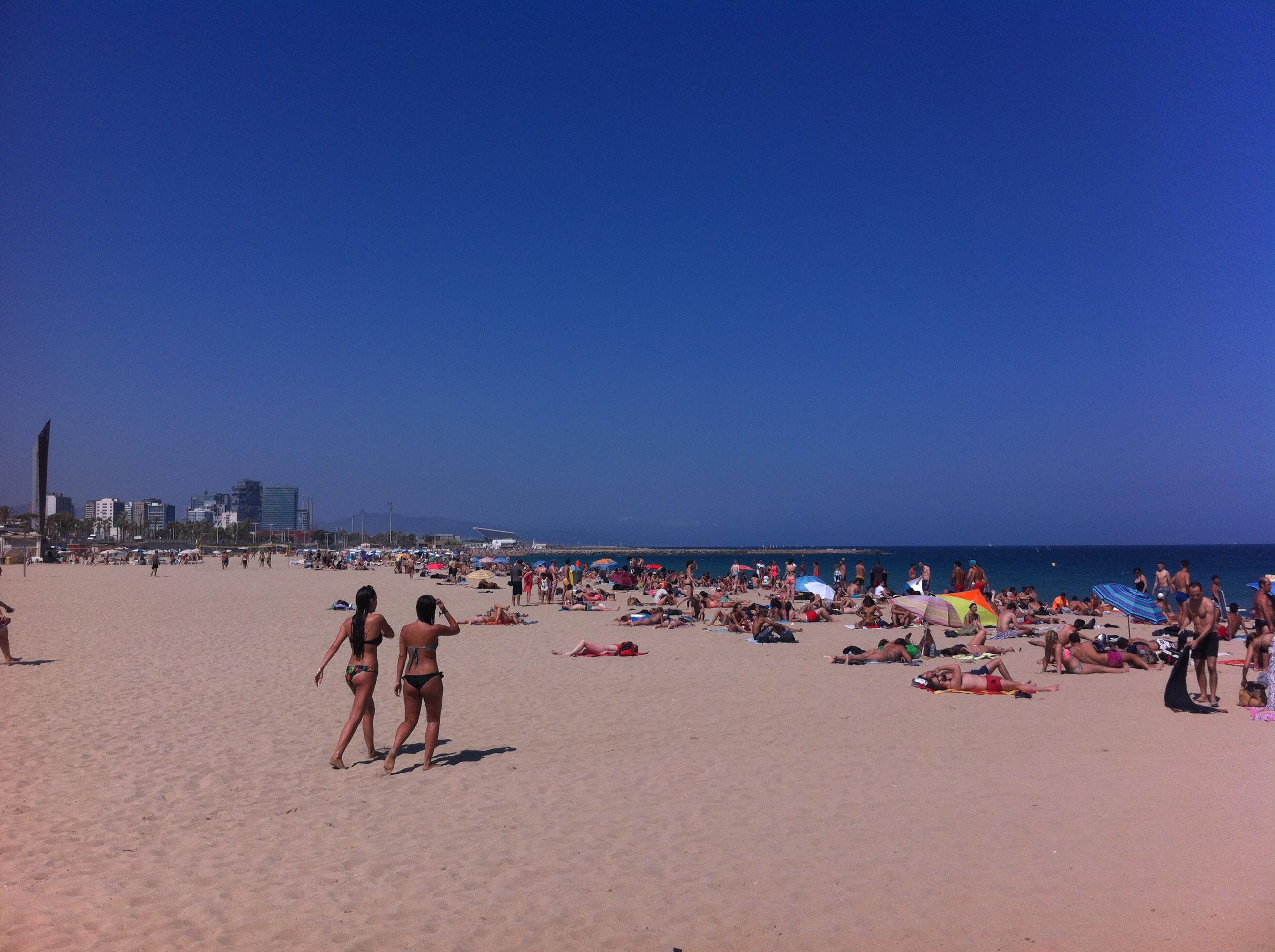Bogatell Beach, Barcelona by Ben Holbrook