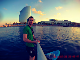 SUP Paddle Boarding Surfing in Barcelona - Blog Post Guide by Ben Holbrook