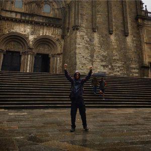 Arriving in Santiago de Compostela Camino