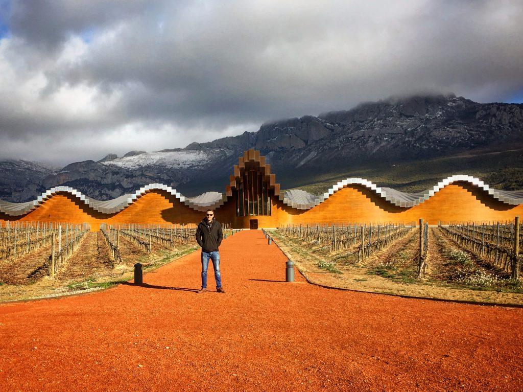 Ben at Ysios in Rioja Alavesa