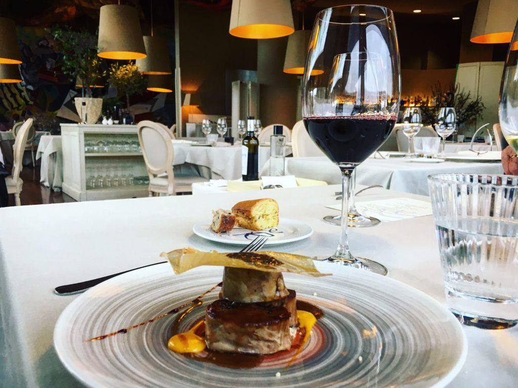 Foie at Restaurant Etxanobe in Bilbao