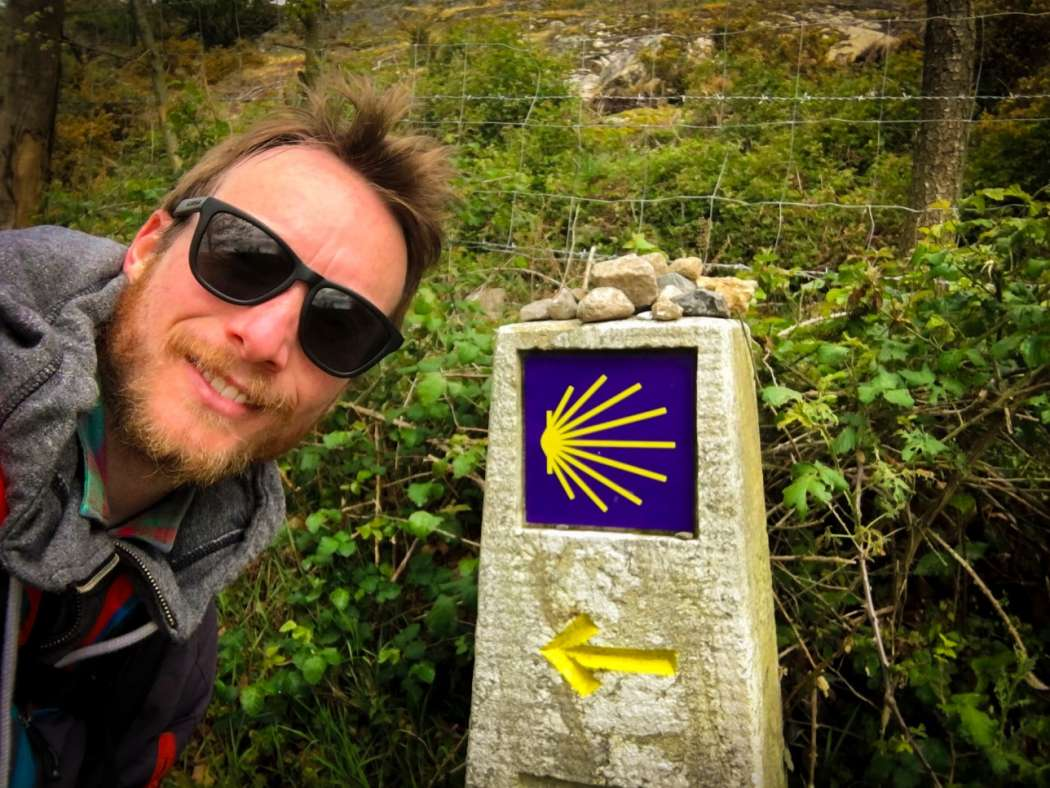 Ben Holbrook Travel Writer, Blogger and Photographer Hiking the Camino de Santiago PIlgrim Walk in Galicia, Northern Spain