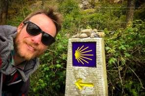 Ben Holbrook Travel Writer, Blogger and Photographer Hiking the Camino de Santiago PIlgrim Walk in Galicia, Northern Spain