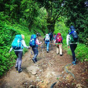 Women hiking the Camino de Santiago - Driftwood Journals Travel Blog