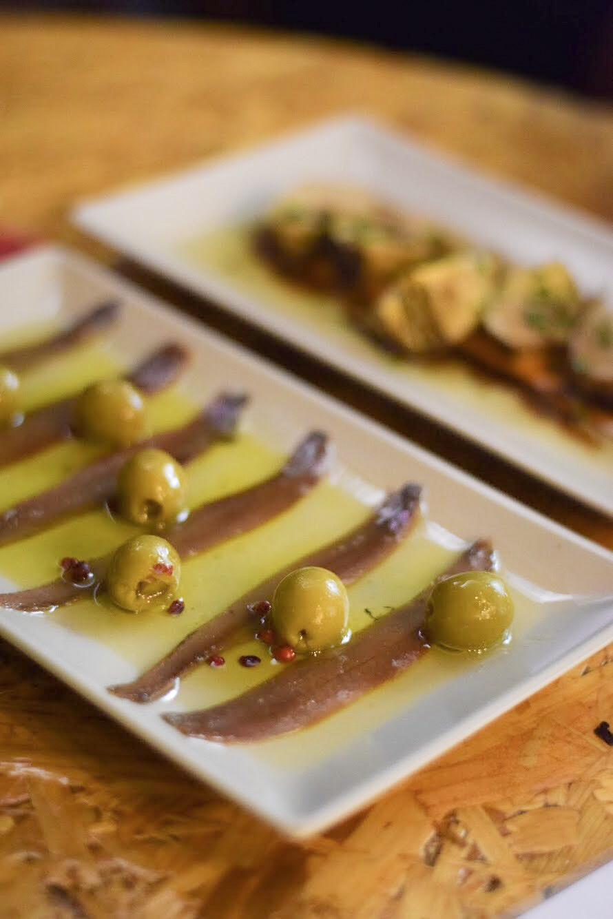 Gourmet Spanish olives and Cantabrian anchovies - Barcelona Food Experiences