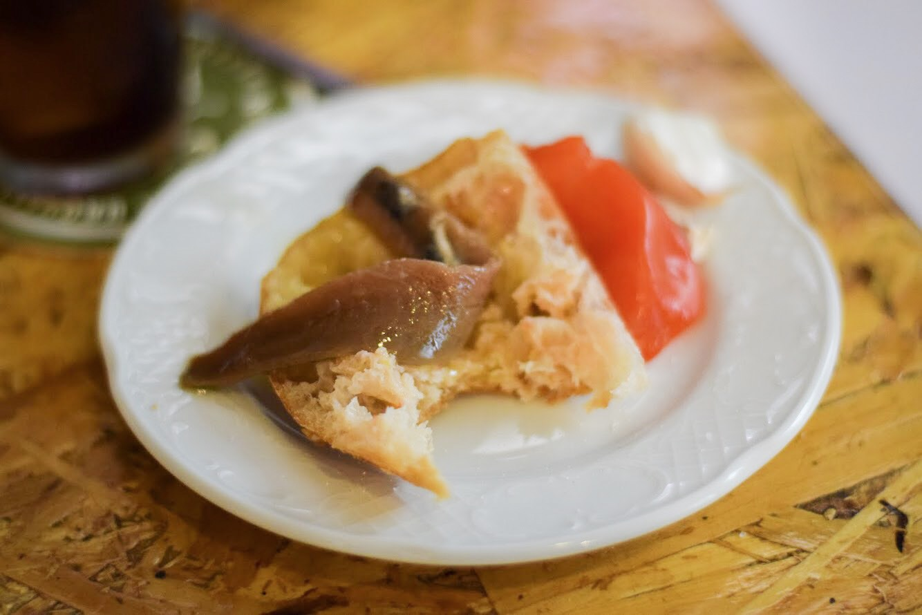 Catalan tomato bread with olive oil and anchovies - Barcelona Food Experiences Food Tour