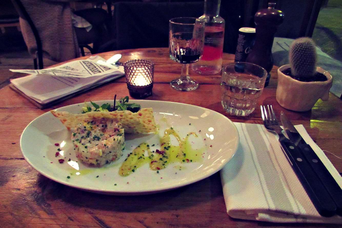 Tartar de Dorada at Cafe Buho in Barcelona - Ben Holbrook