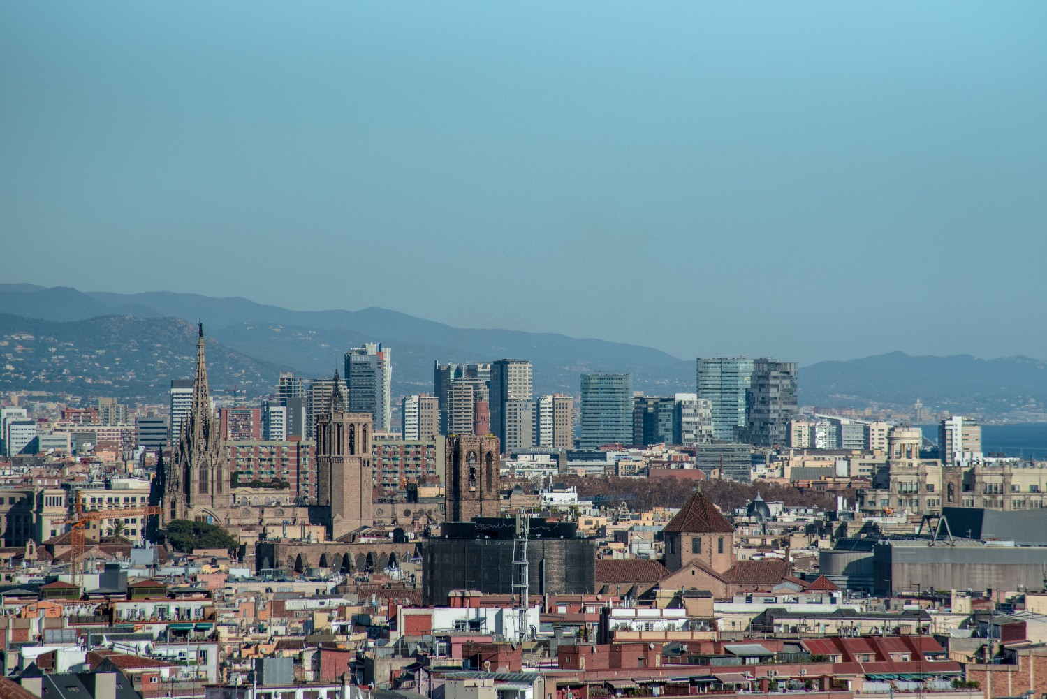 Barcelona Skyline Photography -by Ben Holbrook
