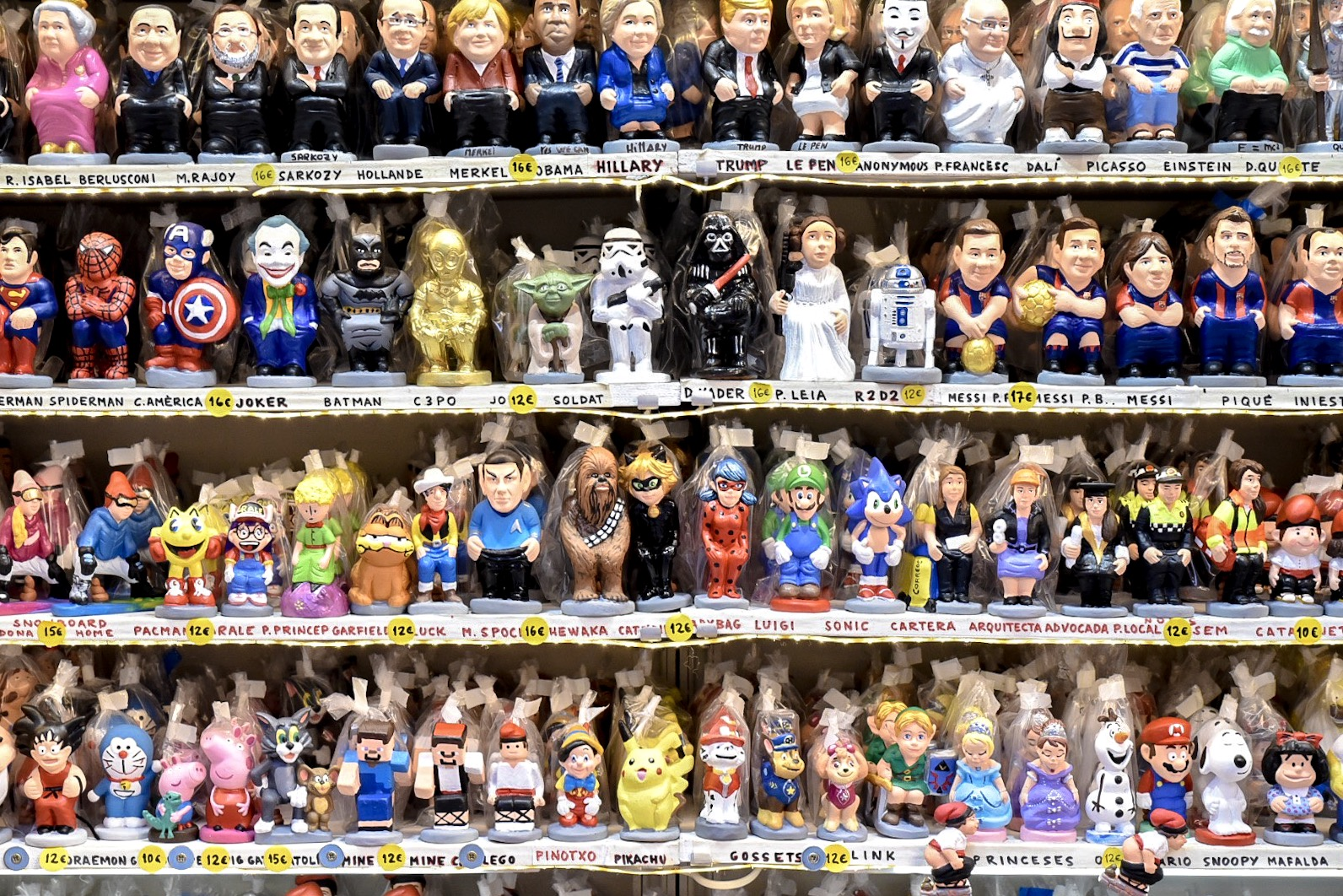 Caganers in Barcelona at Christmas