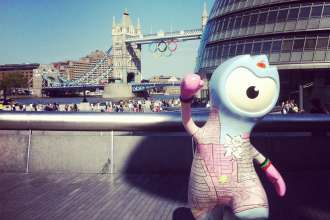 London 2012 Olympic Mascot at Tower Bridge