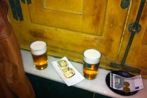 beers and tapas in Madrid