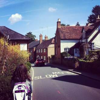 cottages in the village of Shere, Surrey Hills