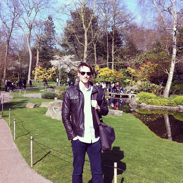 Ben Holbrook Travel Writer and Photographer in Kyoto Gardens, Kensington, London